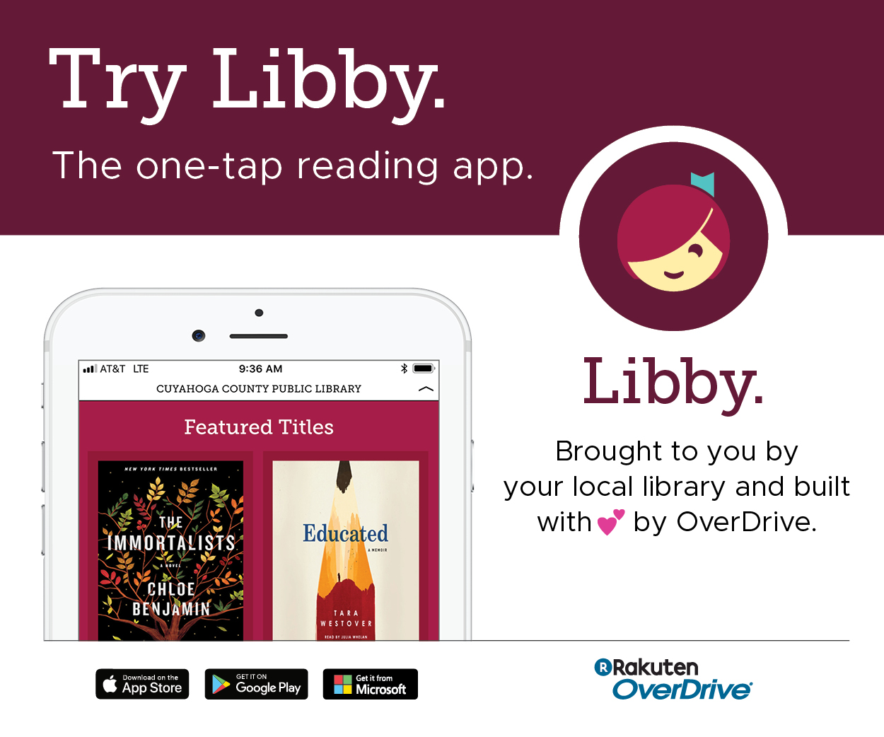 try Libby, the overdrive app