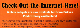 checkout a hotspot from the library
